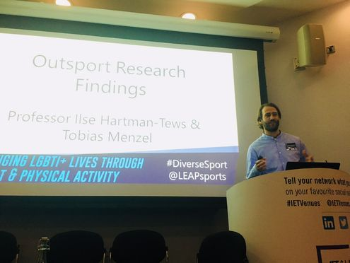 Outsport research presentation in Glasgow