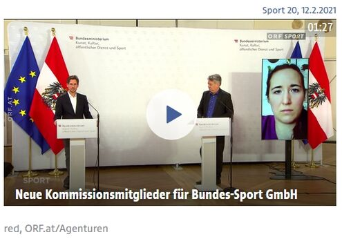 Screenshot press conference sport.orf.at