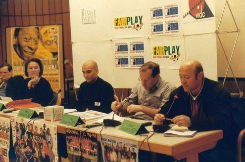 NAREF seminar Vienna: Opening panel with former Austrian national team striker Christian Keglevits