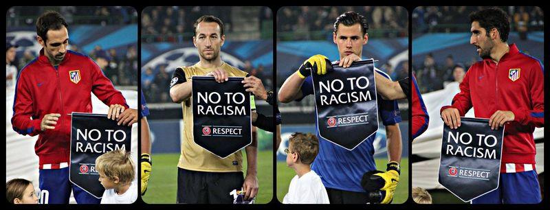 Αποτέλεσμα εικόνας για uefa racism campaign