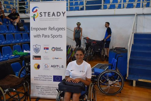 STEADY project - girl in a wheelchair